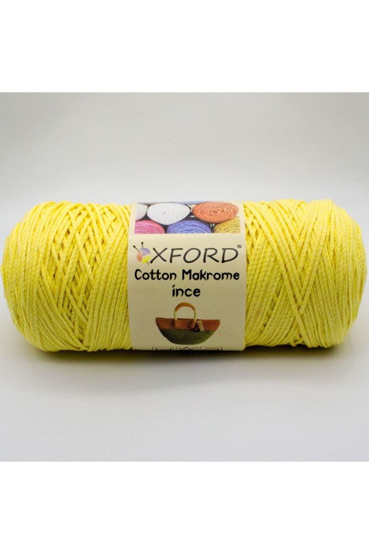 Cotton Makrome İnce - 15570 - Açık Sarı