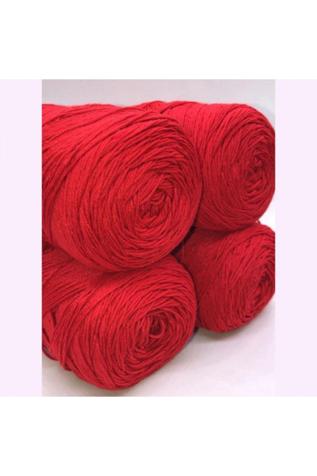 Akrilik Merserize Renk No: 004 Kırmızı