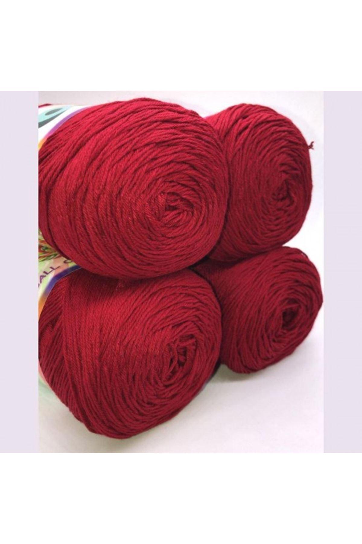 Akrilik Merserize Renk No: 010 Koyu Kırmızı