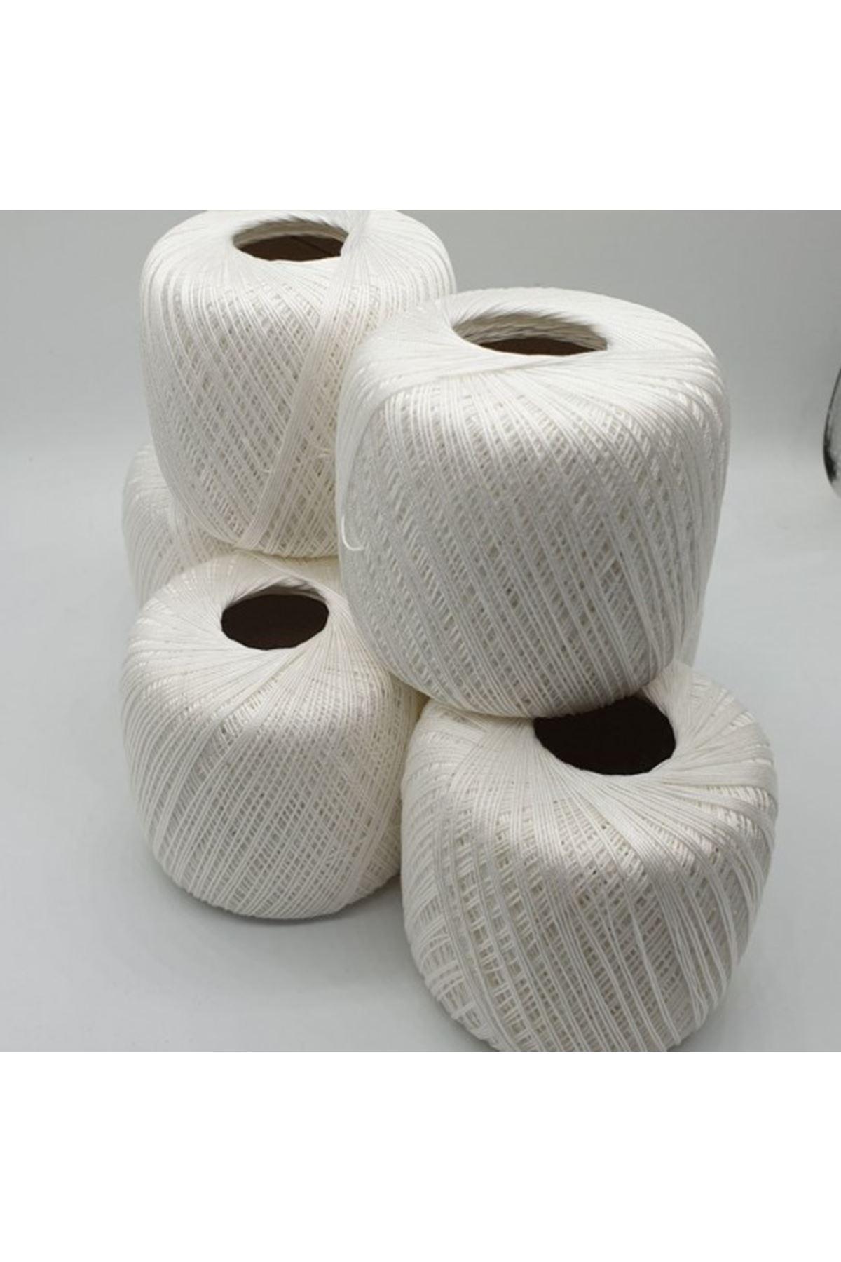 İnce Merserize 6'lı Paket 1009 Kırık Beyaz
