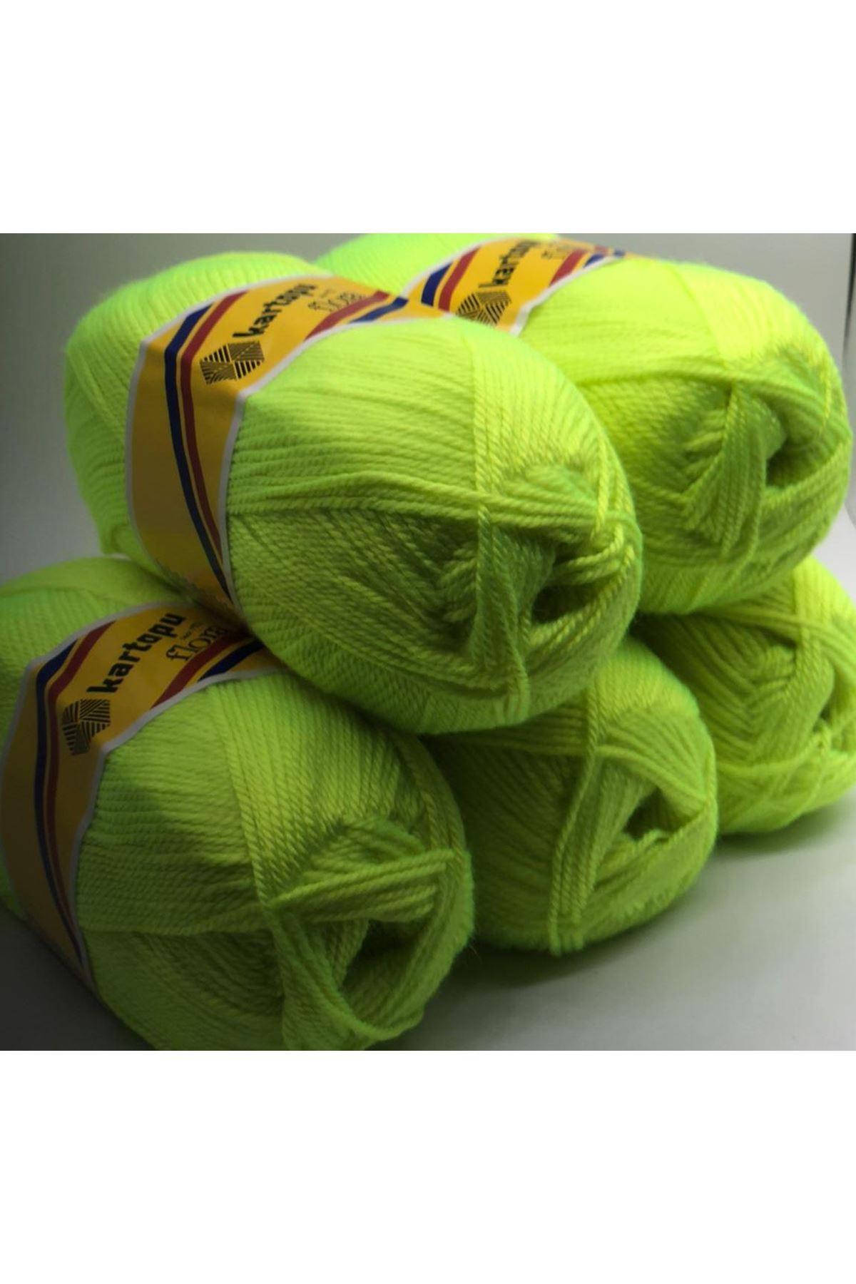 KARTOPU FLORA 5li paket K448 Açık Neon Yeşil Ex-895