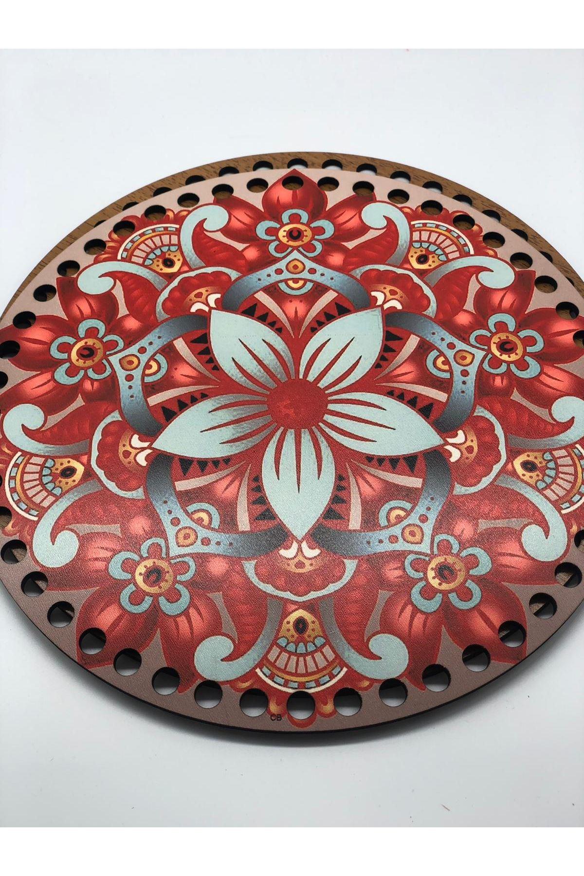 Desenli Çanta Tabanı 20cm Çap - 4