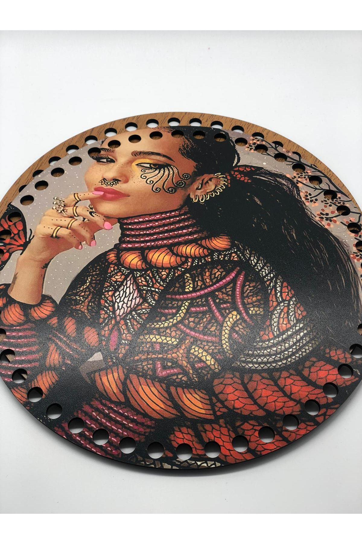 Desenli Çanta Tabanı 20cm Çap - 5