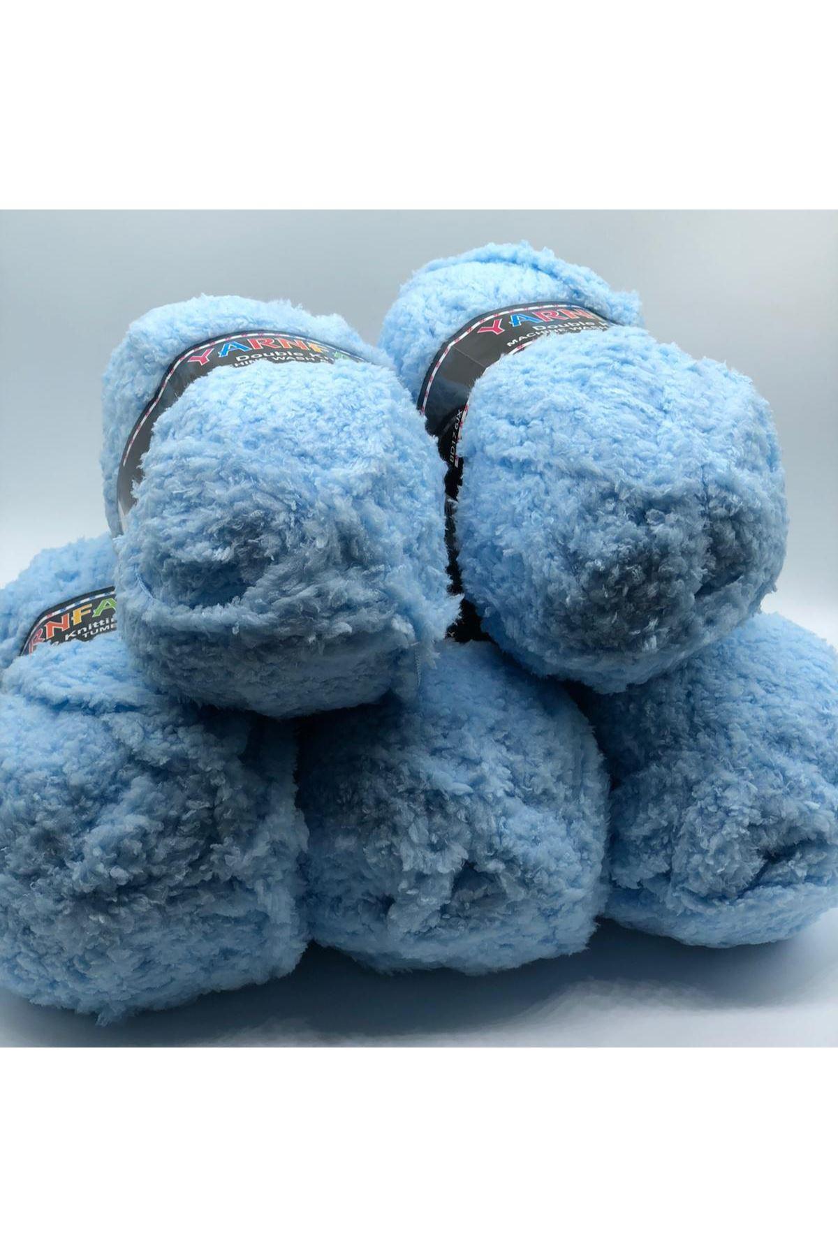 İhrac Fazlası 5'li Paket Havlı Ponçik 979 Bebe Mavi
