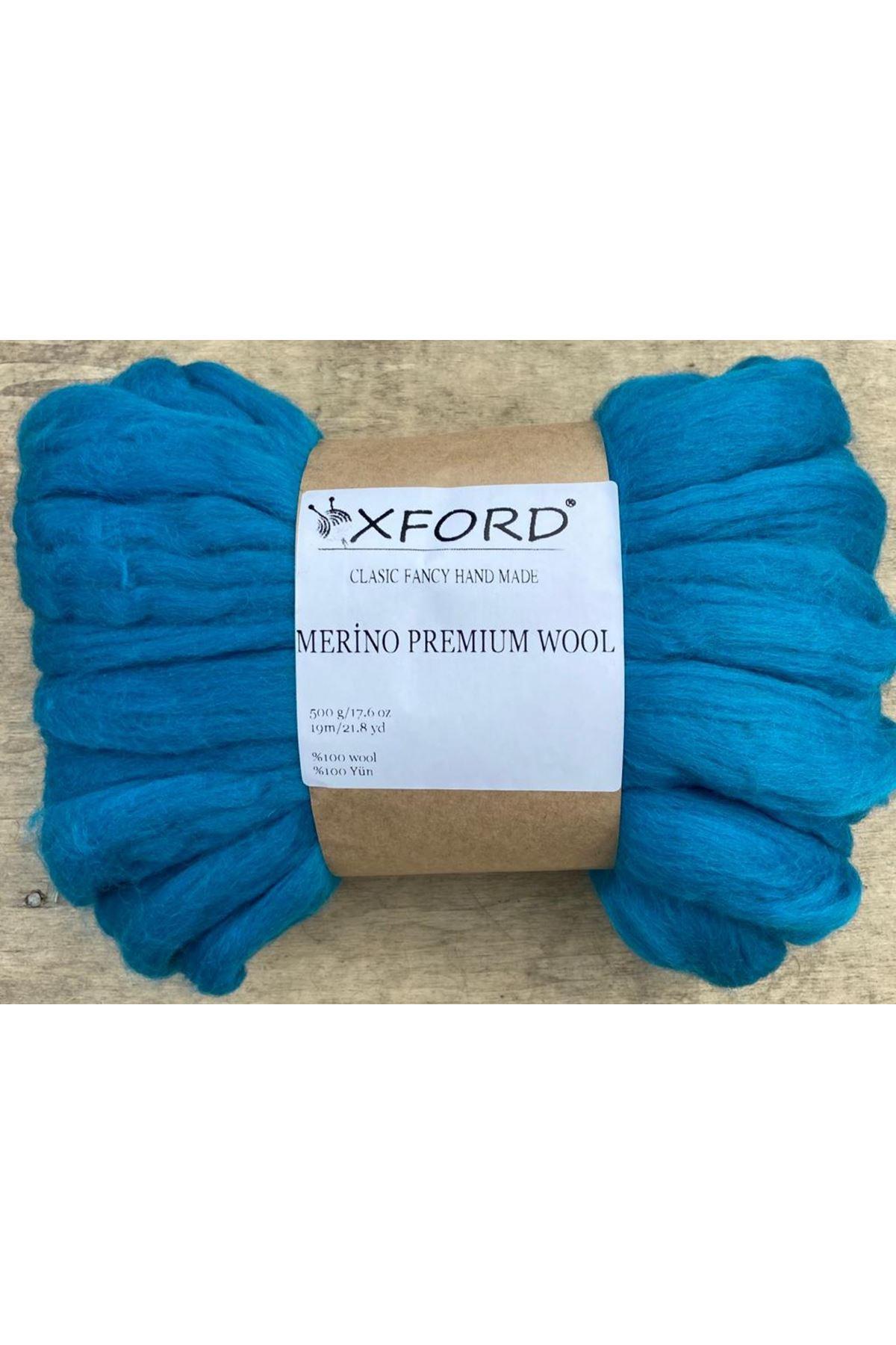 Oxford Merino Premium Wool 01- Mavi
