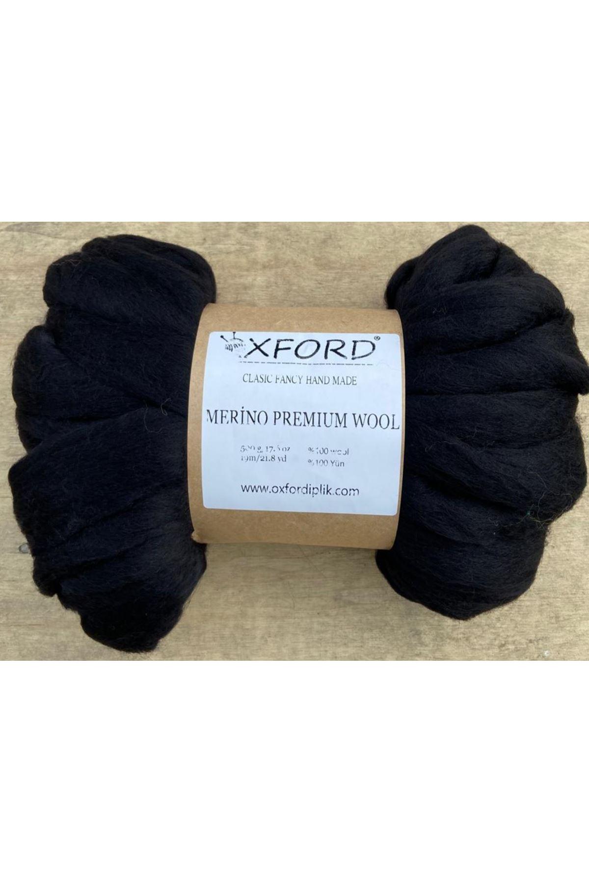 Oxford Merino Premium Wool 02 - Siyah