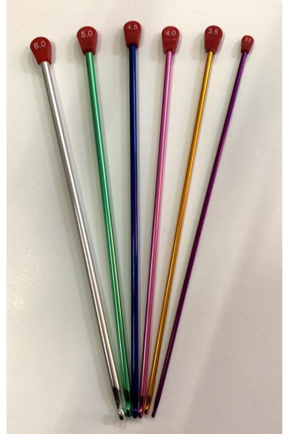 Renkli Metal 25 cm Tunus İşi Tığı 6 mm
