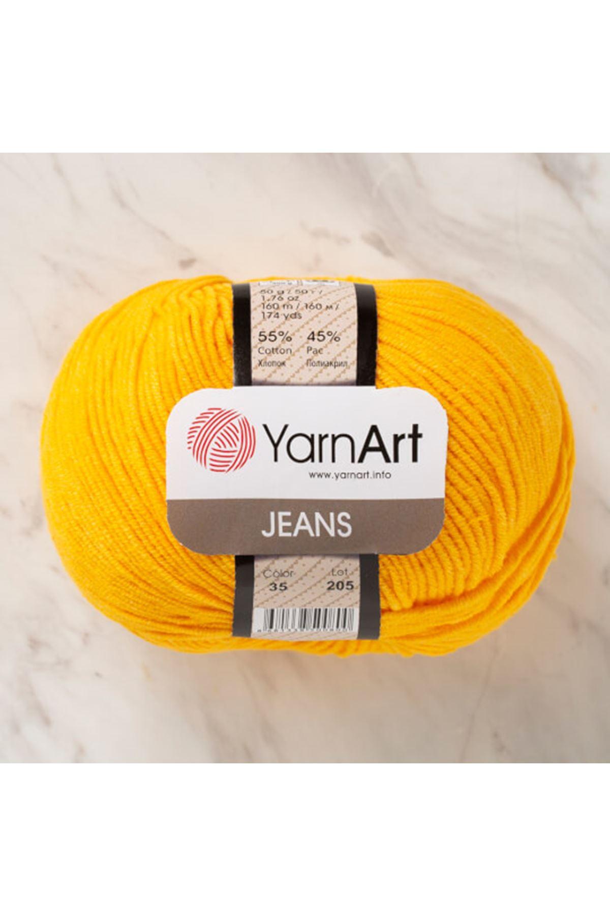 Yarnart Jeans 35 Koyu Sarı