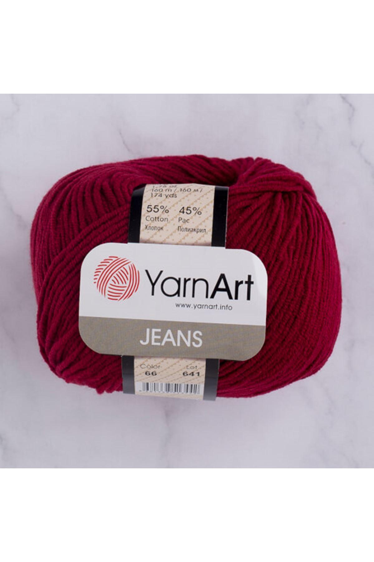 Yarnart Jeans 66 Koyu Kırmızı