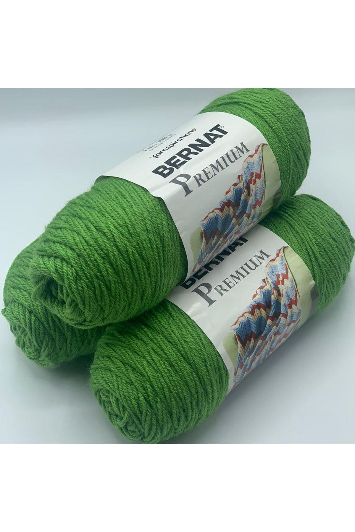 3'lü Paket Orijinal Bernat Premium Akrilik 600 gram 1093 Yeşil