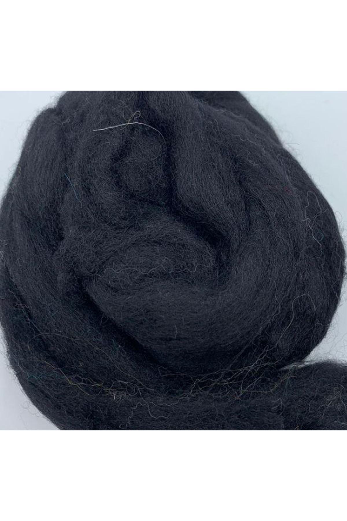 Saf Yün Keçe 25 gram 1 metre - Siyah