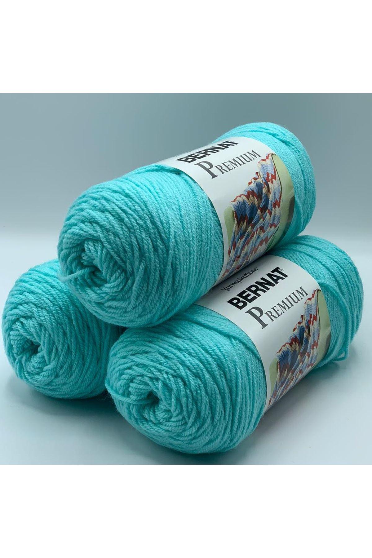 3'lü Paket Orijinal Bernat Premium Akrilik 600 gram 1141 Açık Mavi
