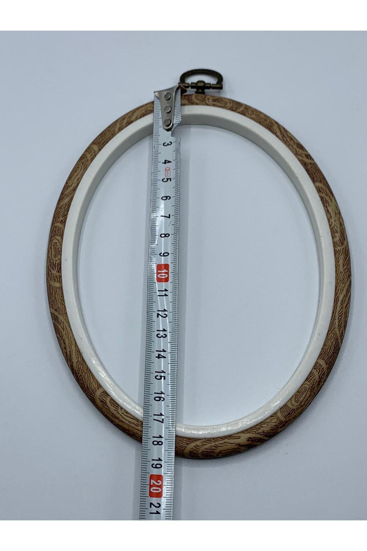 Plastik Oval Kasnak Kahverengi 19 cm