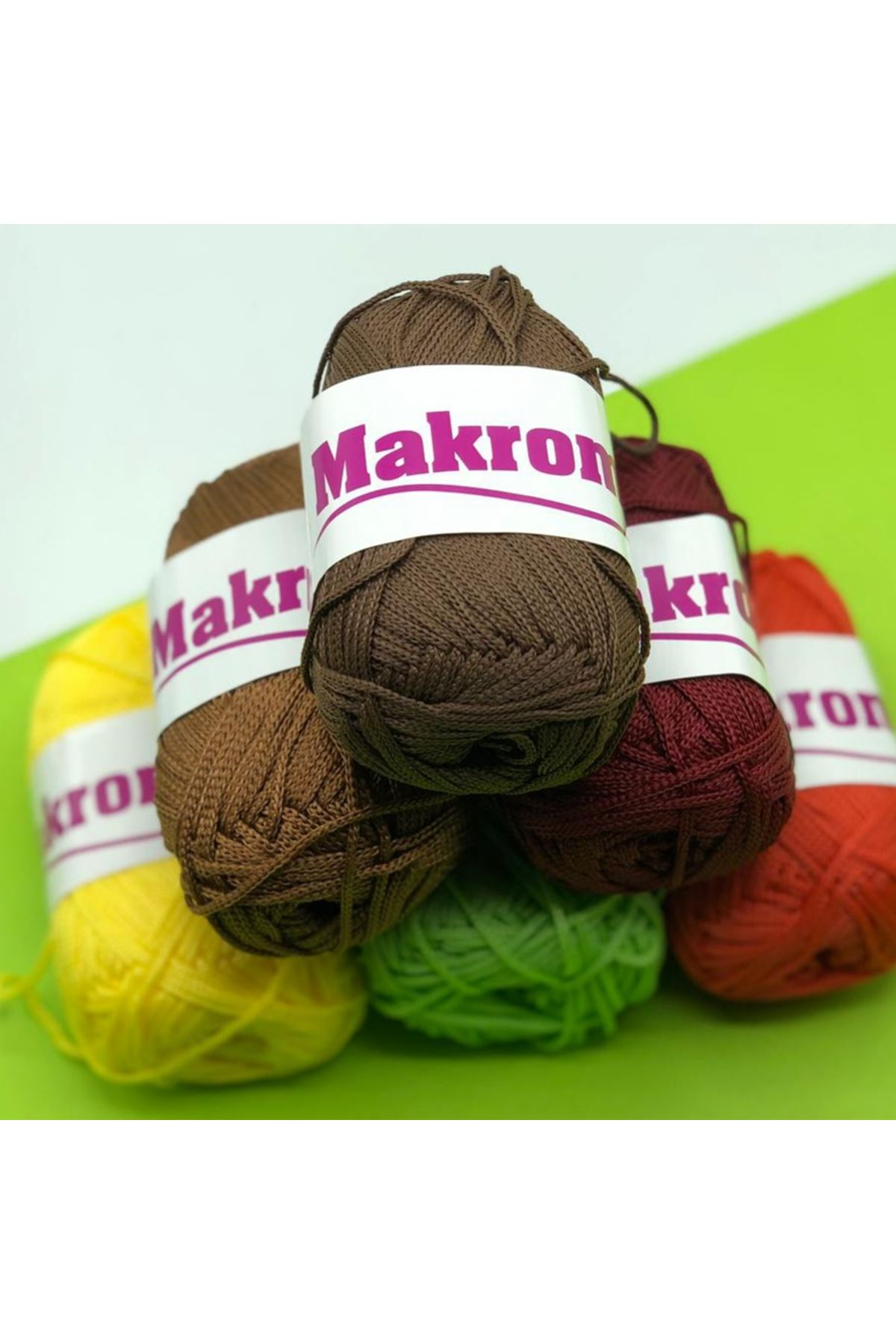 Polyester Makrome Grup - 06 Renkli Mix