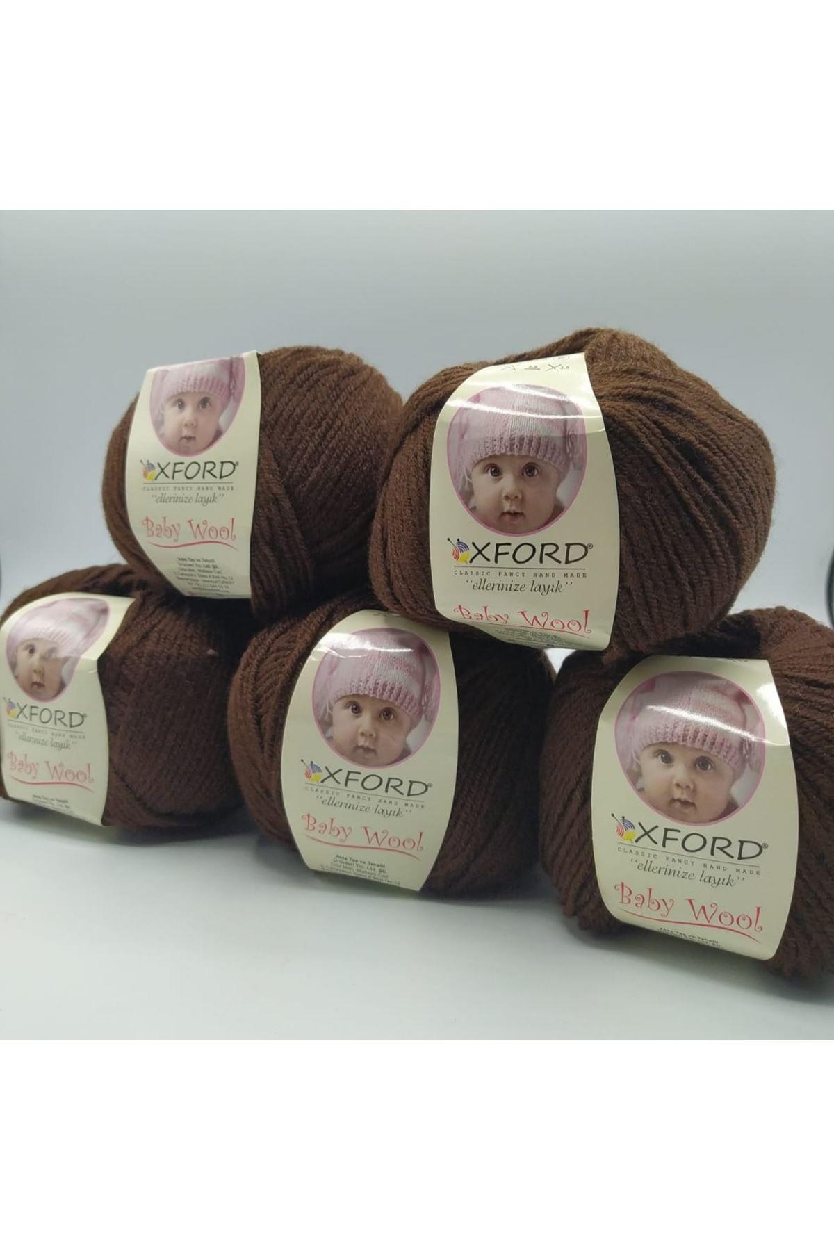 Outlet Baby Wool 5'li Grup - Kahve