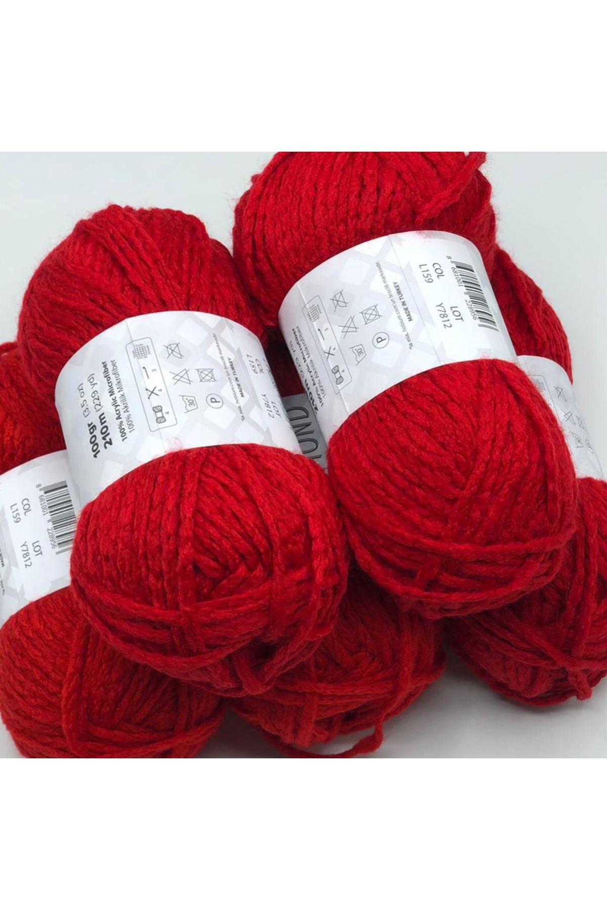 İhrac Fazlası 5'li Paket 210 Akrilik Kırmızı