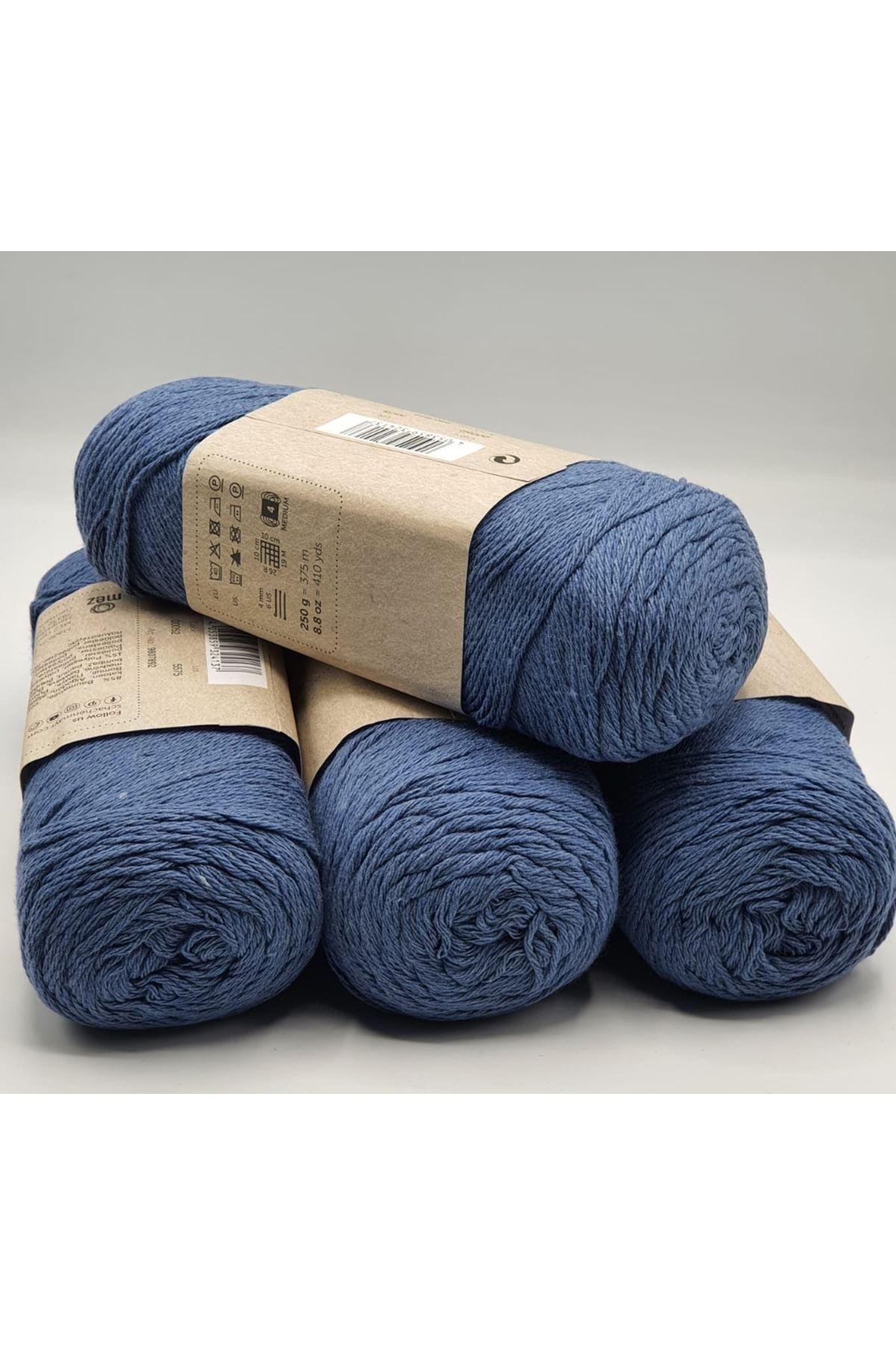 1 Kilo Cotton İp 01 Koyu Mavi