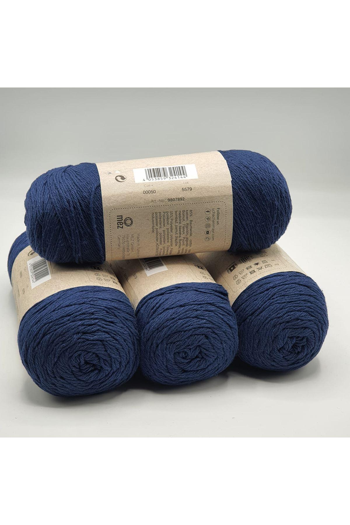 1 Kilo Cotton İp 02 Lacivert