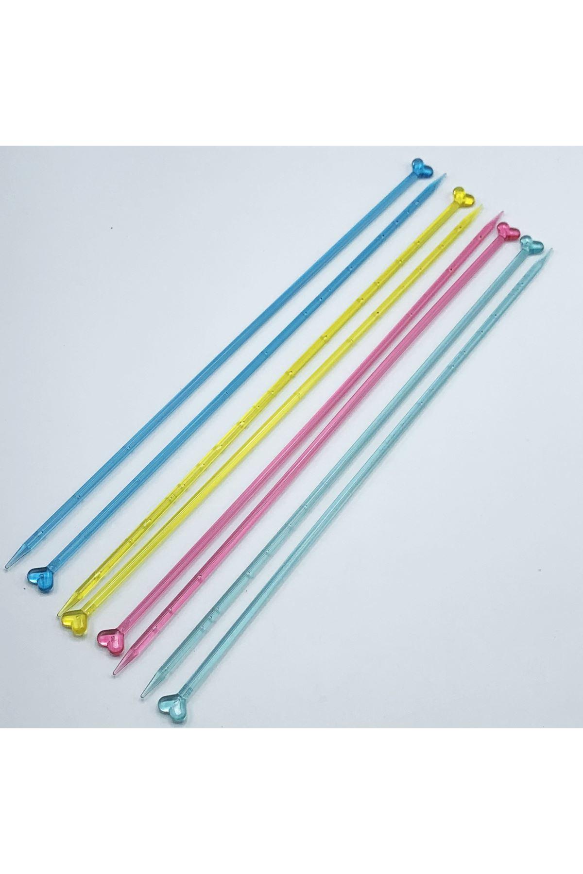 Plastik Renkli Şeffaf Şiş