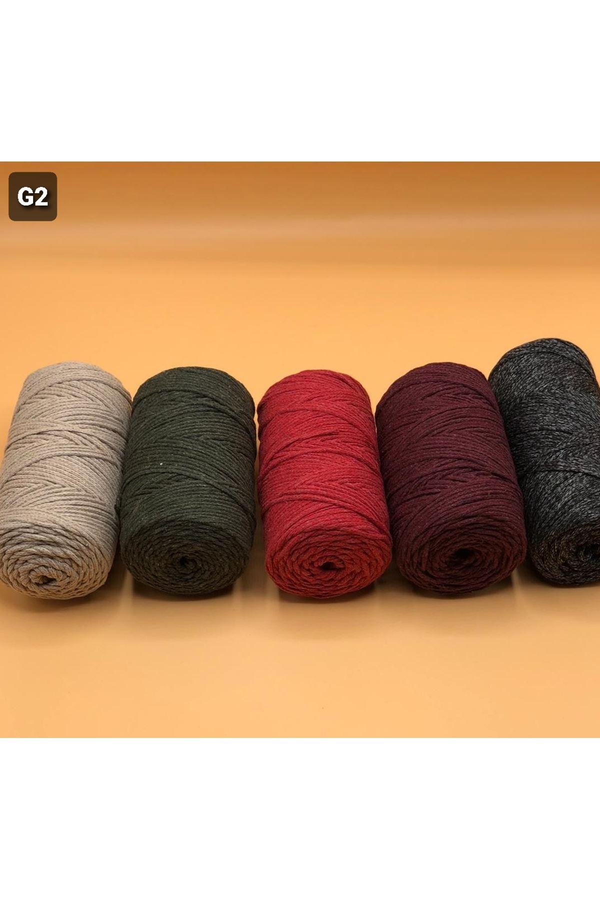 Cotton Makrome MIX Paket 1270 gram Grup 2