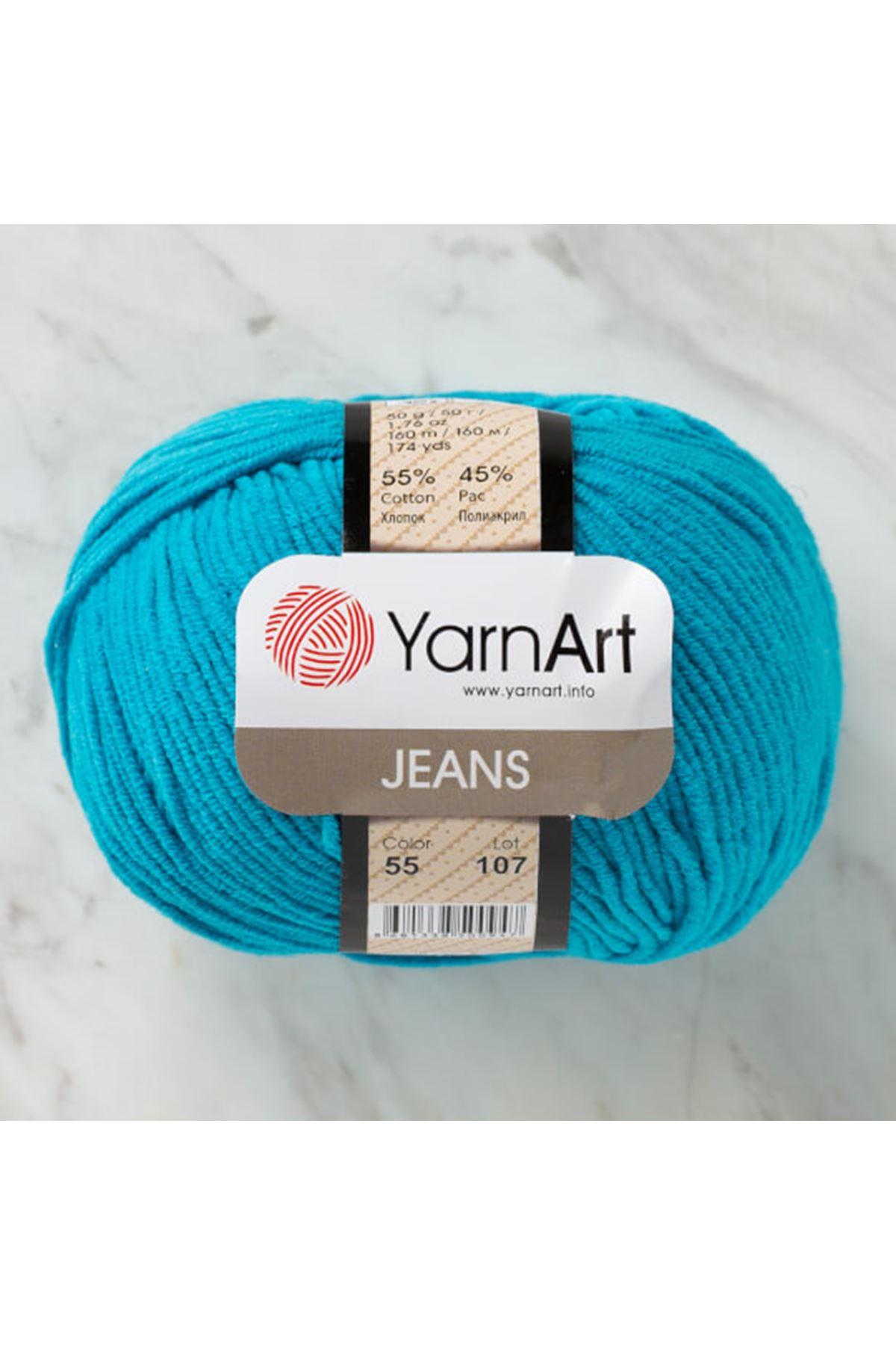 Yarnart Jeans 55 Koyu Turkuaz