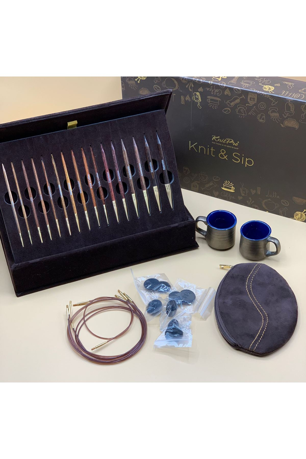 Knit Pro Knit and Sip Değiştirilebilir Misinalı Örgü Şişi Seti