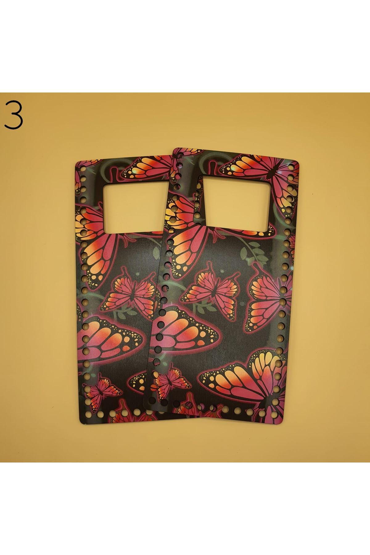 Desenli Çanta Plakası 25x14cm 03