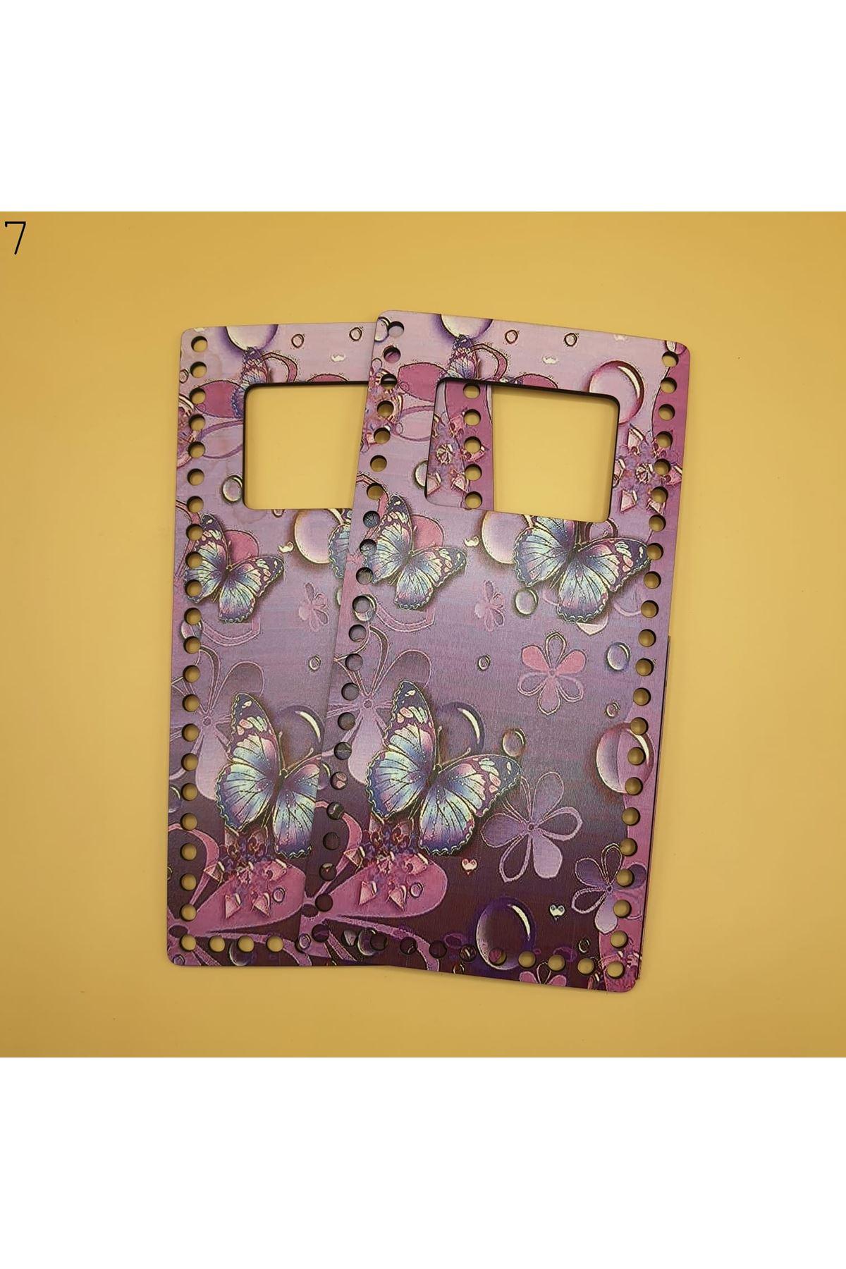 Desenli Çanta Plakası 25x14cm 07