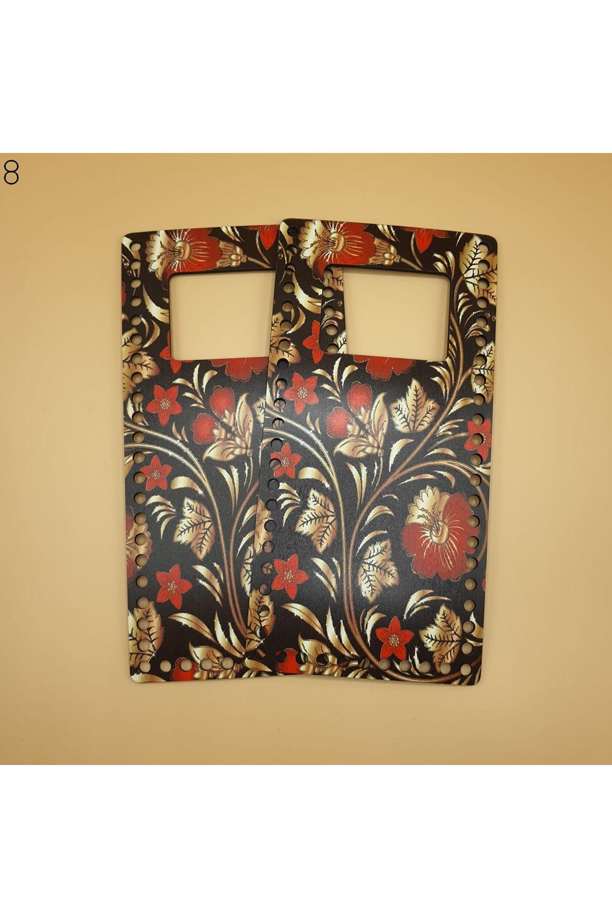 Desenli Çanta Plakası 25x14cm 08