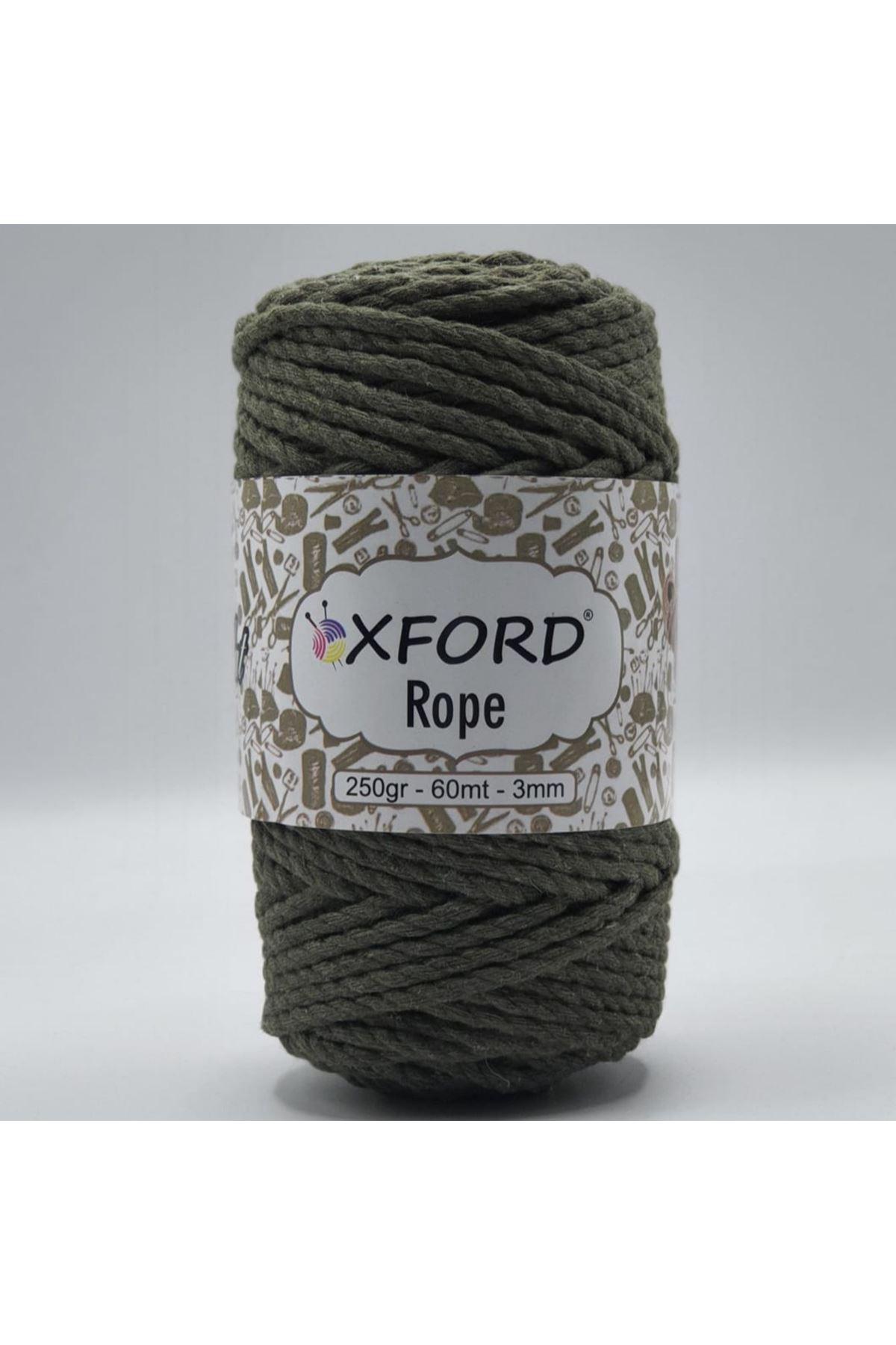 Oxford Rope 3mm 005 Haki Yeşil