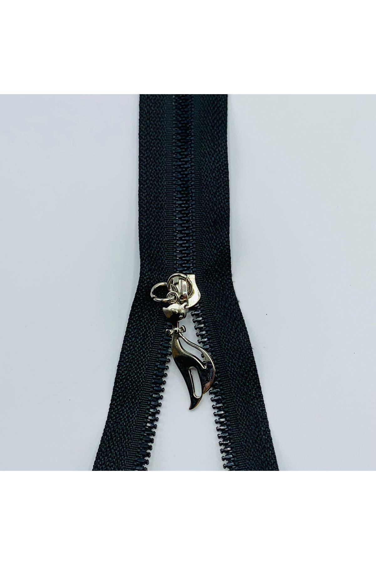 Metal Fermuar 30cm Siyah-Gümüş